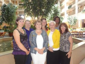 ODHA Executive Board Front Row Left to Right: Kelly Oberg, Vice President; Beth Tronolone, President; Joyce Beathard-Lind, Speaker of the House; Deborah Stevens, Immediate Past President; Back row, left to right: Rachel Henry, Treasurer; Diane Gross, Secretary; Nichole Oocumma, President-Elect